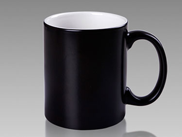 11oz Color glazed ceramic mugs Custom black inside&outside coffee cup manufacturer of china