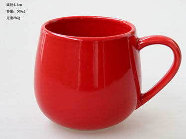 China Manufacturers the material of 14oz white ceramic coffee mugs
