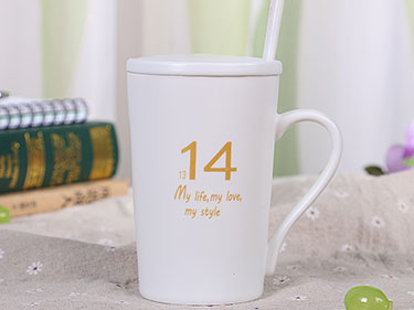 12oz ceramic letter mugs christmas sublimation shaped mugs ceramic valentines mug with lid and spoon
