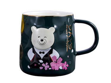 3D ceramic coffee mugs with Phnom Penh Custom bear mugs wholesale