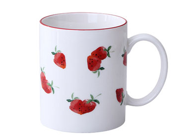 Custom sublimation mug manufacturers china porcelain ceramic mugs with strawberry