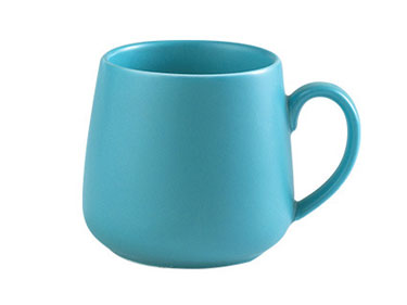 Wholesale 11oz blue starbucks color glazed matte ceramic mugs for coffee or tea