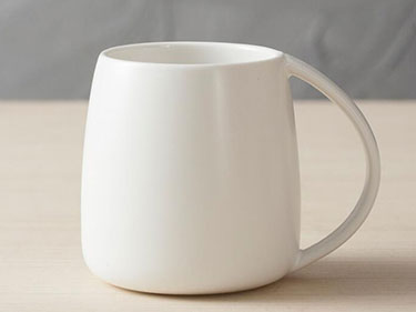 Custom ceramic coffee mugs with handle plain white espresso mugs for tea